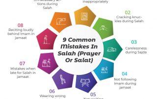 9 common mistakes in Salah (prayer or Salat)