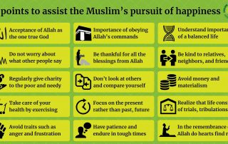 15 points to assist the Muslim's pursuit of happiness
