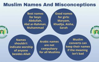 Muslim names and misconceptions
